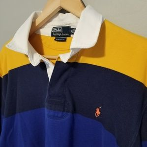 Ralph Lauren | Rugby Long Sleeve Polo Navy Blue 90